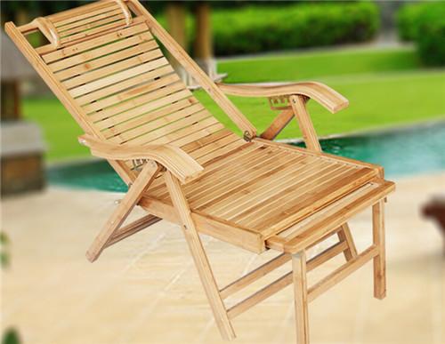 【福里居】竹椅休閑椅折疊躺椅辦公午休有踏腳椅廠家定做