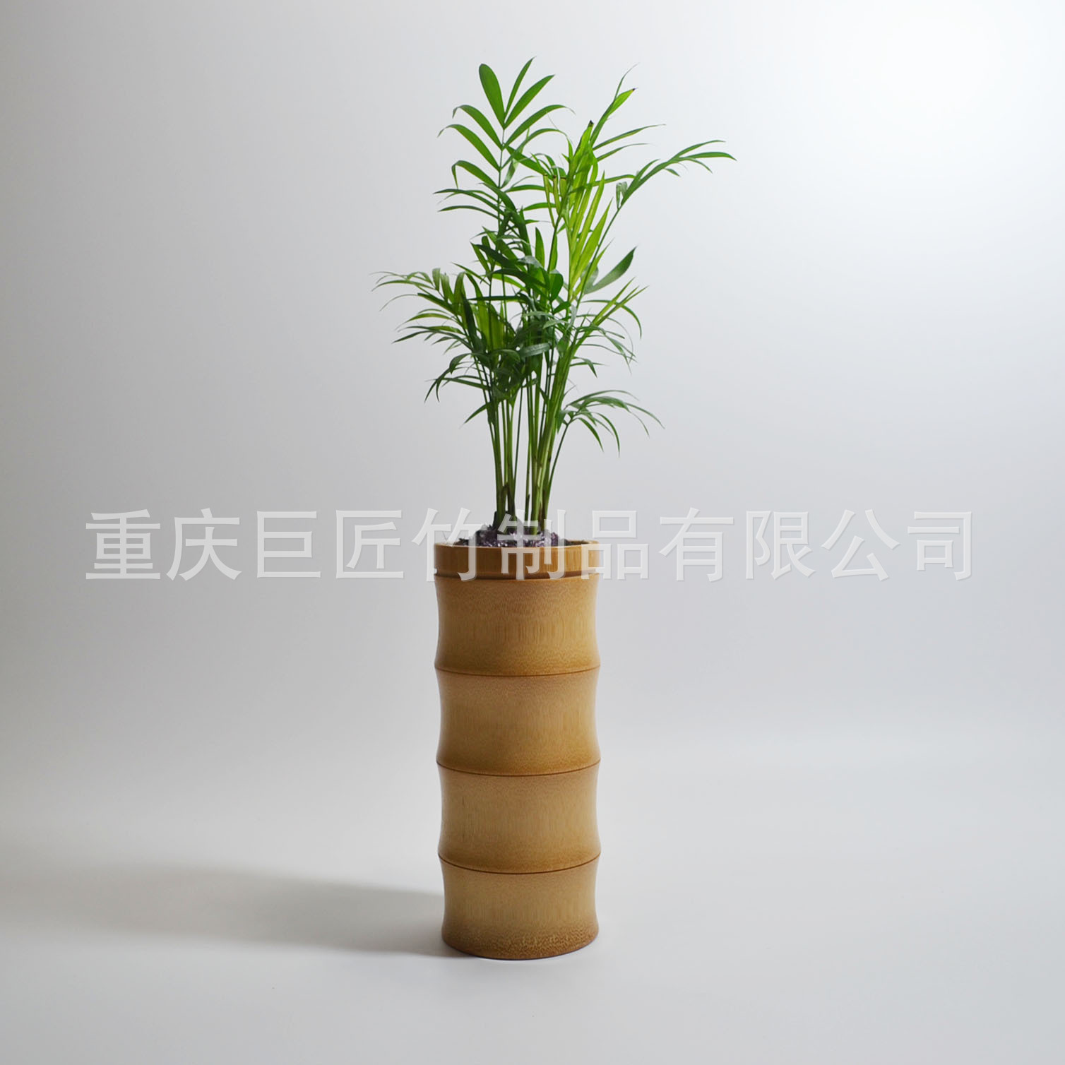 廠家生產天然環保竹子花瓶竹制花缽創意花插家居擺飾竹節式新款