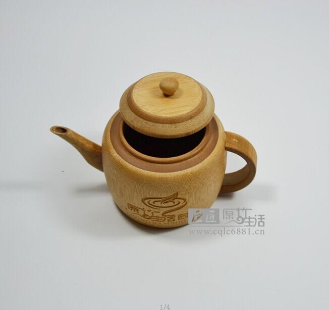 厂家定制高档竹子功夫茶具 茶壶 竹制茶具 碳化茶壶 礼品定制
