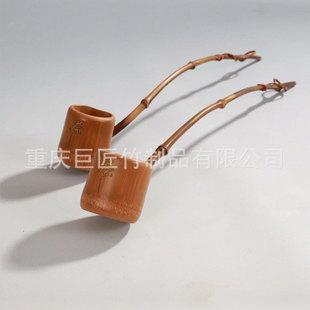厂家定做天然原竹爆款高档精品竹水勺茶勺酒勺茶具