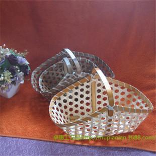 广西竹编工艺厂长期定做各类鸡蛋篮|果篮|船型手提竹编粽子篮