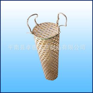 廣西竹編廠大量低價生產六角眼竹籃 竹筐 雞蛋籃 螃蟹籃