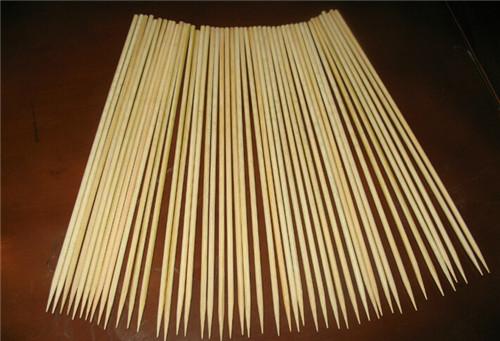生产5.0*400 长竹签 烧烤签 肉串 阿里巴巴烧烤串