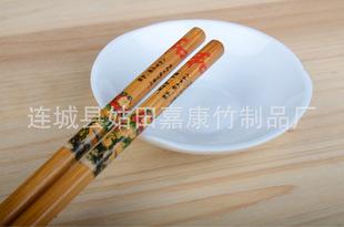 爆款日用百货 供应厨房家庭必备 7.0带节炒漆印花碳化竹筷